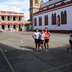 Patio Santo Domingo Savio - desde la entrada de la cafeteria
